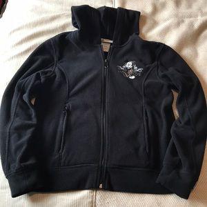 Disney Mickey Mouse black fleece zip up hoodie